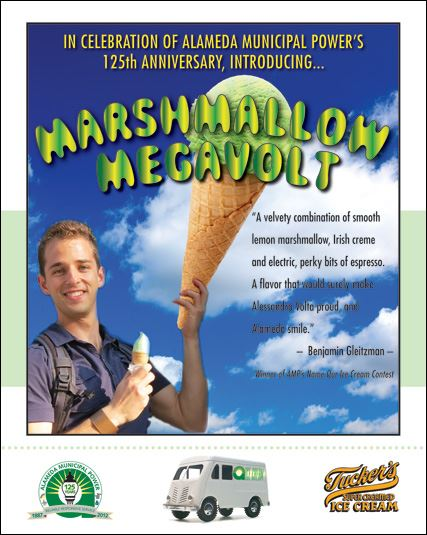Marshmallow Megavolt, a new ice cream flavor, is announced the winner of the Name the Ice Cream cont
